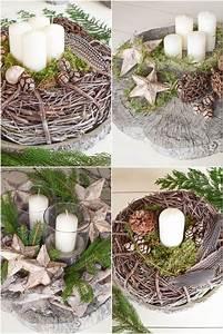 Deko Für Adventskranz : adventskranz ideen selber machen diy deko mit naturmaterialien pinterest advent ~ Buech-reservation.com Haus und Dekorationen