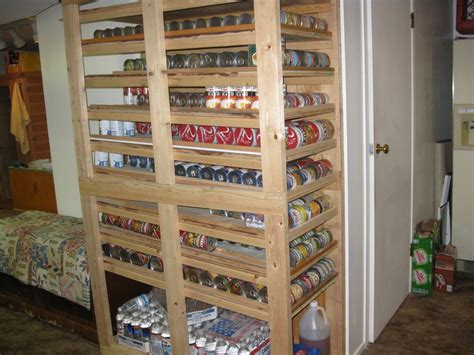 can storage rack diy canned food shelf