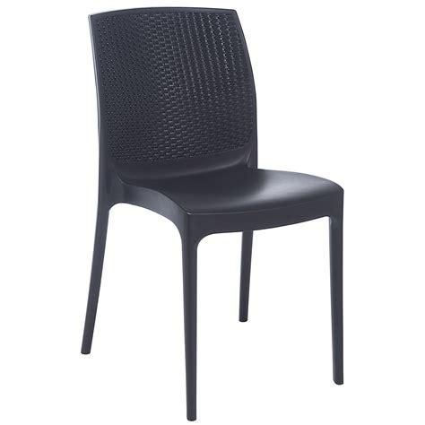 chaise bureau grise chaise de jardin en résine tressée bohême anthracite