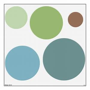 Trendy Soothing Colors Circles Wall Decals Set Home