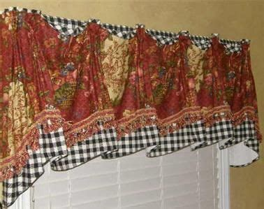 provence french country valance swag curtain waverly red