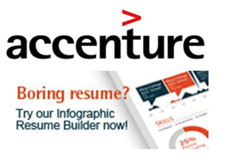 Accenture Resume Builder by Build Resume With Accenture Infographic Resume Builder To