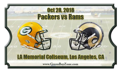 green bay packers  los angeles rams football