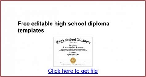 high school diploma templates template  resume