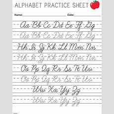 Cursive Writing Worksheets Printable Capital Letters #4  Little Learning  Pinterest Alphabet