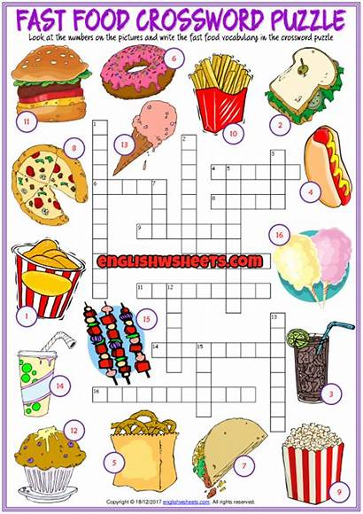 Fast Crossword Puzzle Worksheet Printable Esl Puzzles