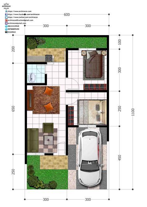 perumahan green land villa denah type  denah rumah