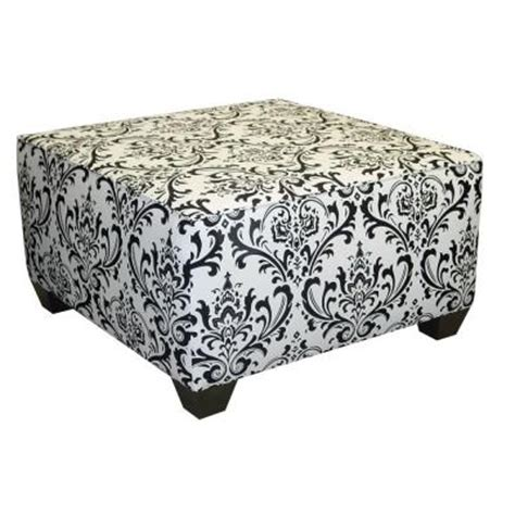 black and white ottoman collectiontraditions damask square cocktail ottoman black