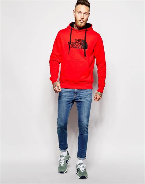 Mens Red Hoodie | Tulips Clothing