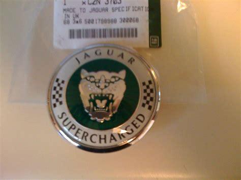 genuine jaguar supercharged hood emblembadgebonnet