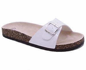 Ladies Women Sliders Platform Straps Summer Mules Flats ...