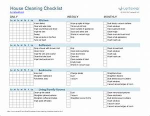 cleaning schedule template printable house cleaning With maid checklist template