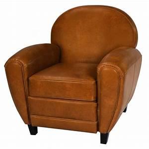 Fauteuil Cuir Camel : fauteuil club camel koya design ~ Teatrodelosmanantiales.com Idées de Décoration