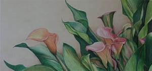 "Art by Charlotte Yealey: ""Calla Lilies"" Colored Pencil by ..."