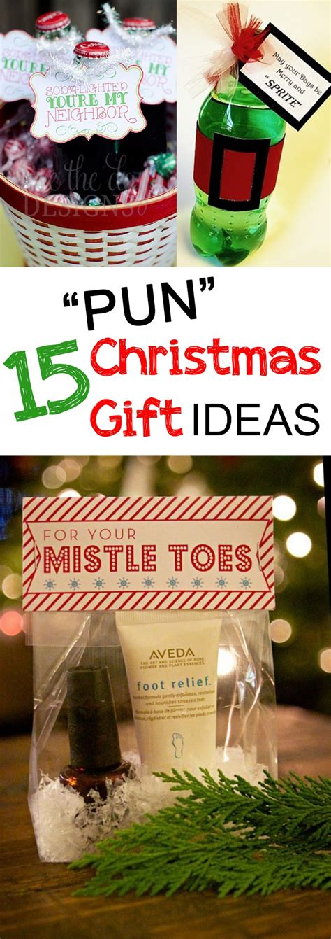 christmas gift ideas for friends 15 quot pun quot christmas gifts