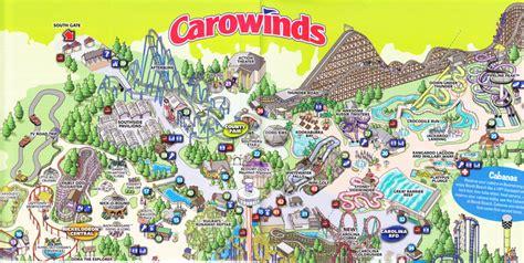 carowinds  park map