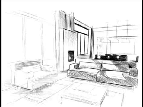 comment dessiner un salon dessins croquis plan comment dessiner perspective et