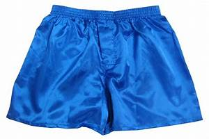 ROYAL BLUE Men's Satin Boxer Shorts - Buy 2 get 1 FREE | eBay