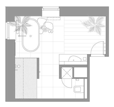 serene bathroom layout plan interior design ideas