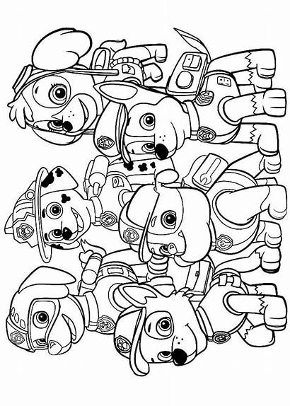Coloring Pages Paw Patrol Birthday Happy Bojanke