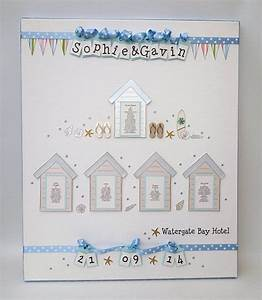 beach themed wedding with beach huts and surfing flip With wedding invitations beach hut