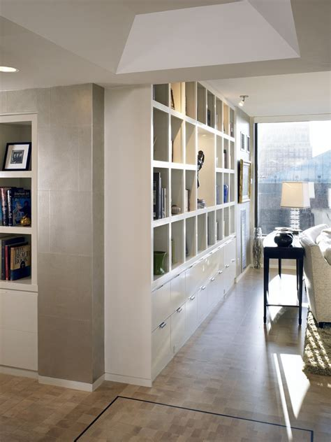 wall shelving units Hall Contemporary with bookshelves