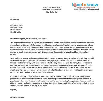 sample hardship letter   loan modification lovetoknow