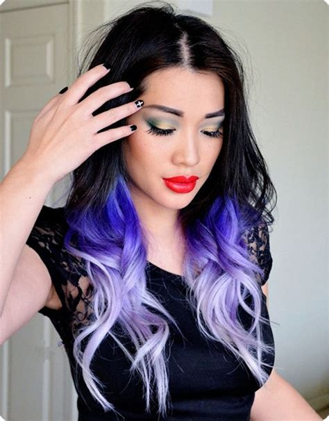 Dying Hair Color Ideas by Cool Brown Purple Hair Black Hair Color Ideas For