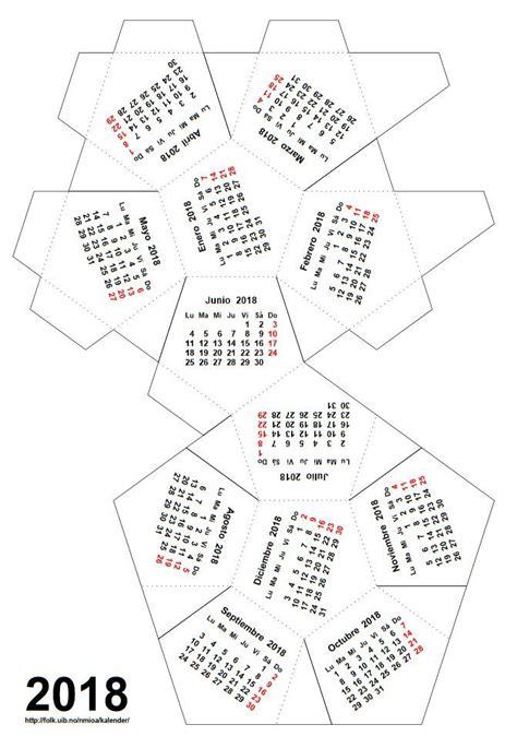 calendario poliedro plantilla descargar imprimir