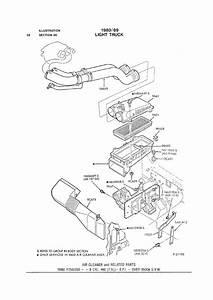 Air Intake Hose  1988 F250 460 Efi