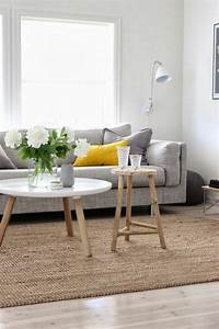 stunning salon jaune gris blanc contemporary awesome With tapis jaune avec destockage canapé saint etienne