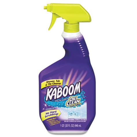 kaboom bathroom cleaner sds kaboom oxiclean shower tub tile cleaner citrus scent