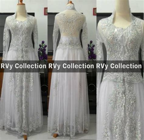 Abaya Gangga Set Celana jual set kebaya abaya akad nikah putih pengantin resepsi