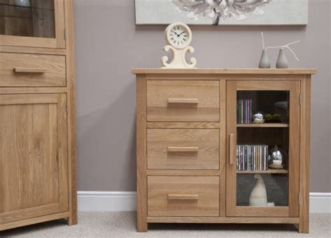 Sideboard And Display Cabinet by Eton Solid Oak Furniture Small Glazed Sideboard Hi Fi
