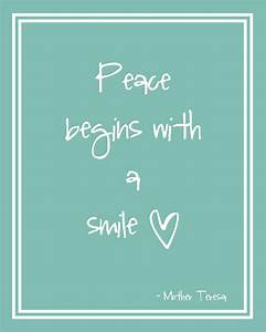 Smile Quotes & ... Peace And Smile Quotes