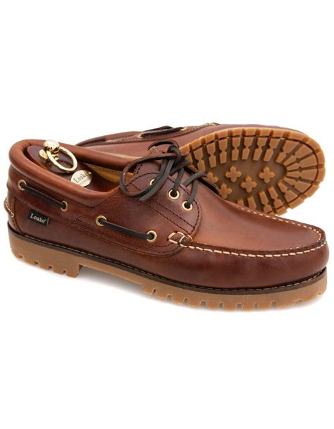 Brown Deck Shoes by Loake 522 Brown Waxy Heavy Deck Shoe