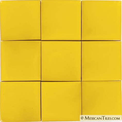 mexican tile bright yellow mexican tile