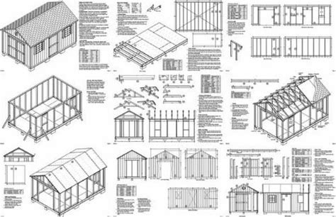 10 x 16 wood shed plans free building plans garden sheds 10 x 16