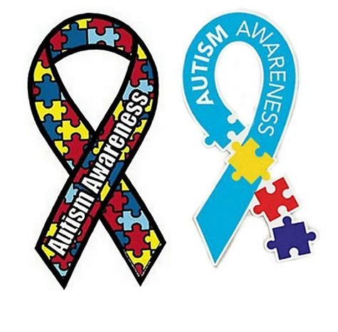 autism colors 2 autism awareness car magnet ribbon puzzle multi