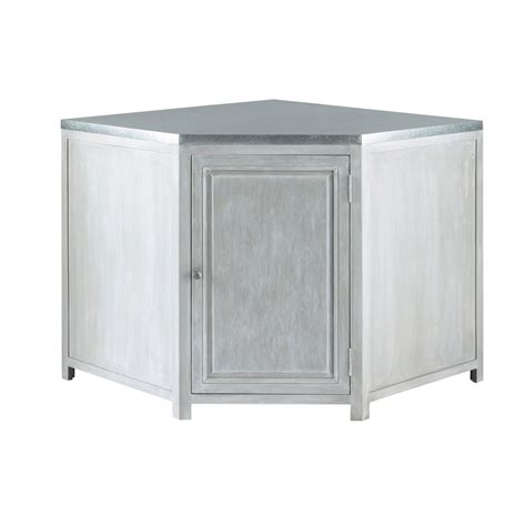 meuble d angle cuisine meuble bas d angle de cuisine en bois d acacia gris l 99 cm zinc maisons du monde