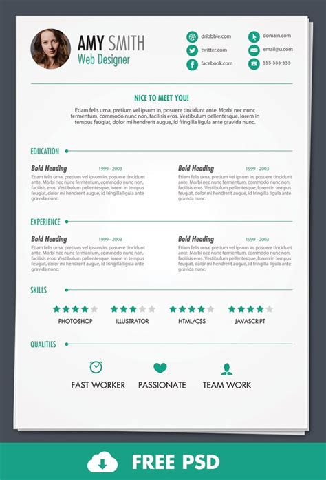 Free Resume Template 6 Free Resume Templates Word Excel Pdf Templates