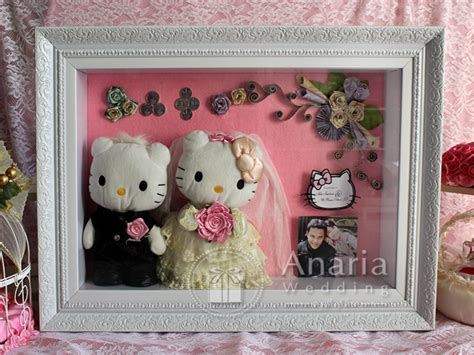mahar pernikahan unik model  kitty anaria wedding