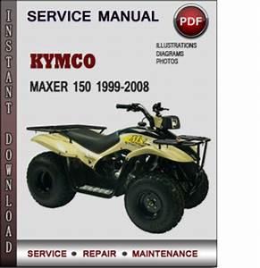 Kymco Maxer 150 1999-2008 Factory Service Repair Manual Download Pdf