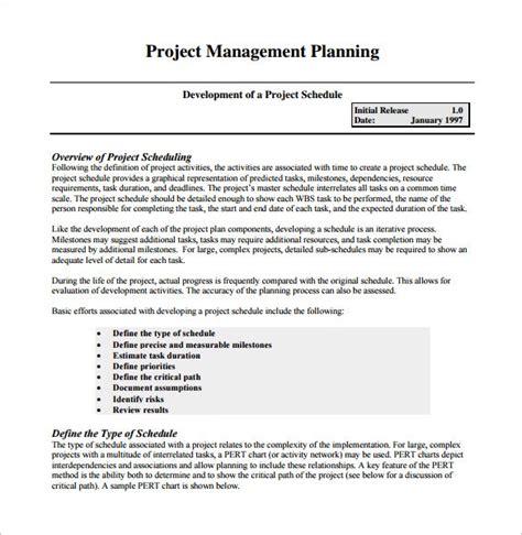 project management schedule templates docs excel