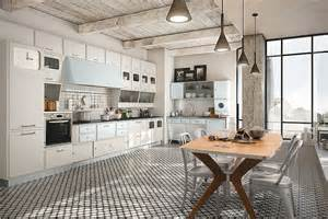 pictures of kitchen backsplashes with white cabinets vintage kitchen offers a refreshing modern take on fifties