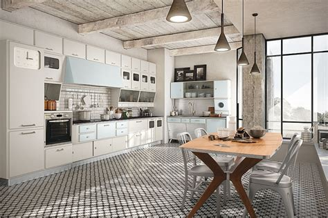 cuisine style cottage anglais vintage kitchen offers a refreshing modern take on fifties style
