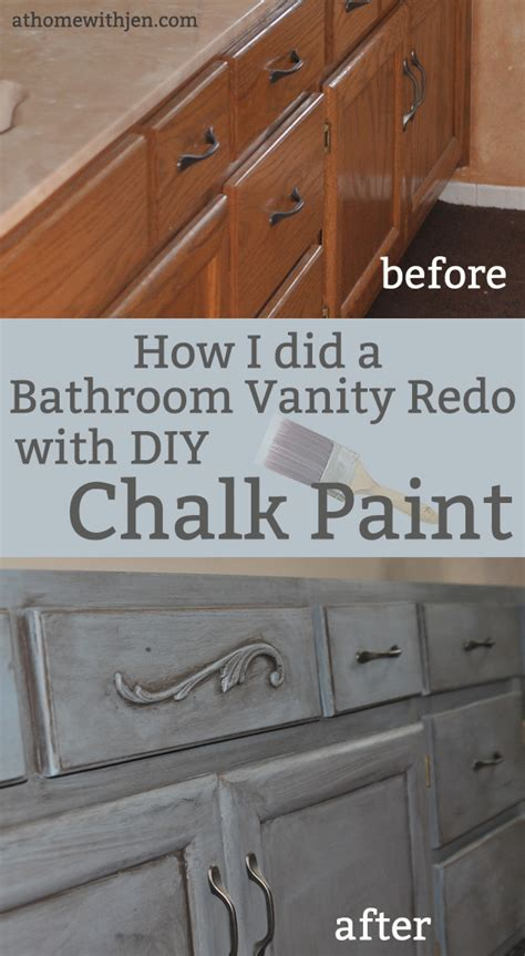 chalk painting  bathroom vanity  home  jen