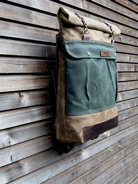Waxed Canvas Rucksack Backpack