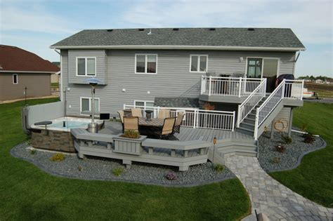 Two Level Deck Designs Photo by Deck Design Pictures Building A Deck Fargo Moorhead