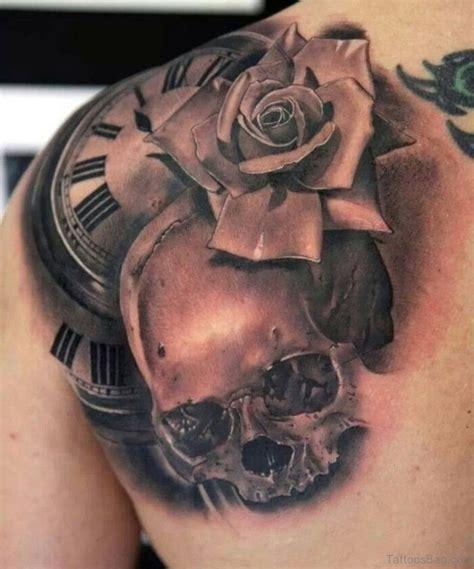 pleasant black rose tattoo designs